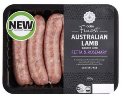 Finest Lamb Rosemary & Fetta Sausages