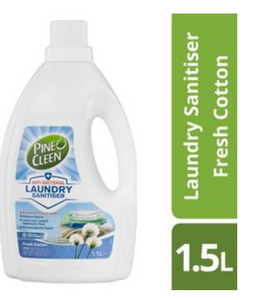 Pine O Cleen Anti Bacterial Laundry Sanitiser Fresh Cotton 1.5L