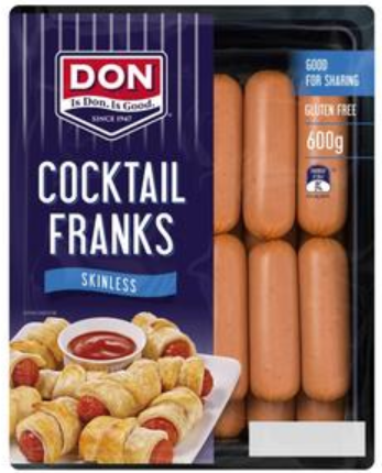 Don Gluten Free Cocktail Franks Skinless