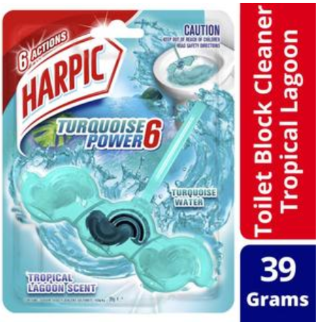 Harpic Turquoise Power 6 Tropical Lagoon Scent