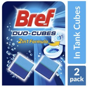 Bref Duo Cubes 2 in 1 Formula Cistern Block Toilet Cleaner 2 pack