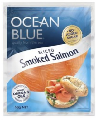 Ocean Blue Smoked Sliced Salmon 50g