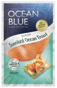 Ocean Blue Smoked Ocean Trout 100g