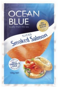 Ocean Blue Sliced Smoked Salmon 100g