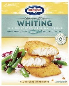 Birds Eye Frozen Southern Blue Whiting Fish Fillets 6 Pack 425g