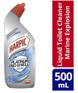 Harpic Platinum Pro Shield Marine Explosion Liquid Toilet Cleaner 500ml