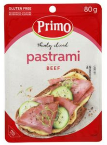 Primo Gluten Free Thinly Sliced Pastrami Beef 80g