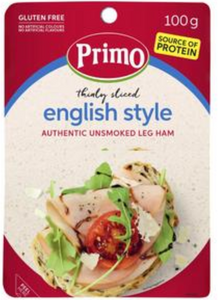 Primo Gluten Free Thinly Sliced Unsmoked Leg Ham 100g