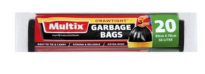 Multix Extra Wide Drawtight Garbage Bags 80cm x 70cm 56L