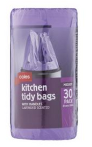 Kitchen Tidy Medium Bags With Handles Lavender Scent