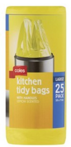 Kitchen Tidy Large Bags With Handles Lemon Scented