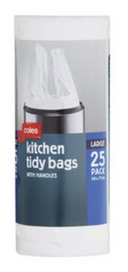 Kitchen Tidy Large Bags With HandlesColes Kitchen Tidy Large Bags With Handles
