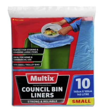 Multix Small Garbage Trolley Bin Liners Bags