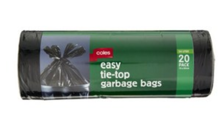 Easy Tie Top Garbage Bags