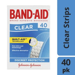 Band-Aid Adhesive Clear Strips