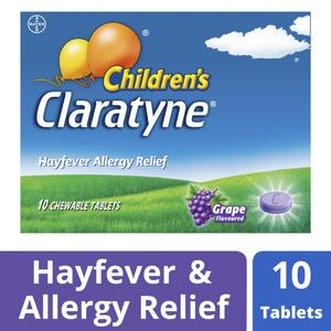 Claratyne Children's Hayfever Antihistamine Grape Flavoured Chewable Tablets