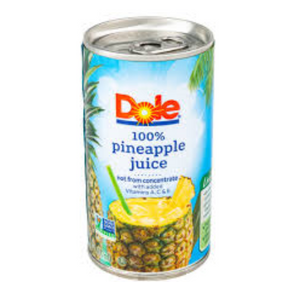 Dole  Pineapple Juice Unsweetened 240ml
