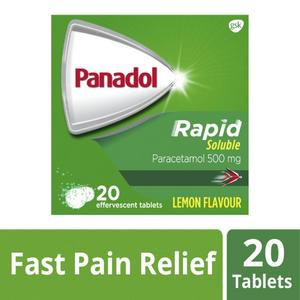 Panadol Rapid Soluble Tablets for Pain Relief Paracetamol 500mg