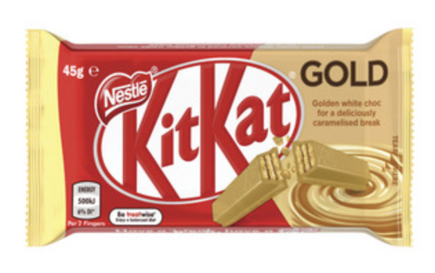 Nestle KitKat Gold White Chocolate With Caramelised Break