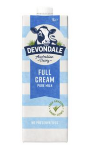 Devondale Full Cream Long Life Milk 1L
