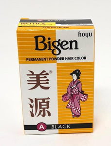 Bigen Permanent Hair Color Black 6g