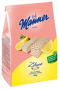 Manner Zitrone Wafer (Fruity Lemon) 400g