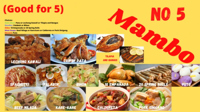 Mambo Deal (Food Package with three (3)  Dishes)