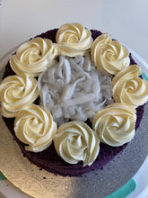 Load image into Gallery viewer, Ube Macapuno Cake with Buttercream frosting by Yummerienda