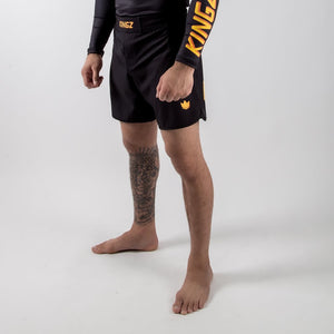 KINGZ Orange Grappling Shorts