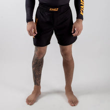 Load image into Gallery viewer, KINGZ Orange Grappling Shorts