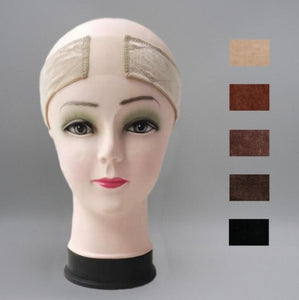 1pc Non Slip lace wig grip band elastic cap adjustable comfort band soft Breathable Velvet Headband