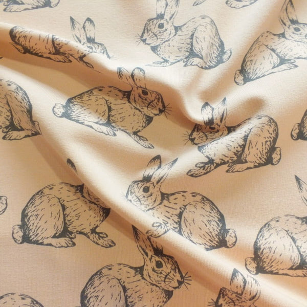Rabbits/Hares - Powder Pink - French Terry - Olabela