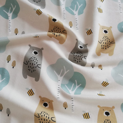 Bears, Trees, Bees - French Terry Fabric - Olabela