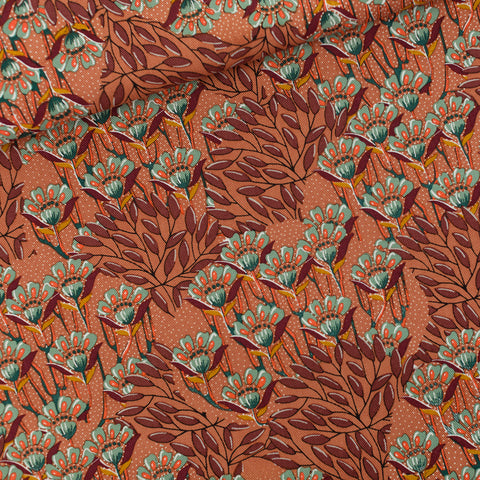 Gilly Flowers - Cotton Canvas Gabardine Twill - See You at Six