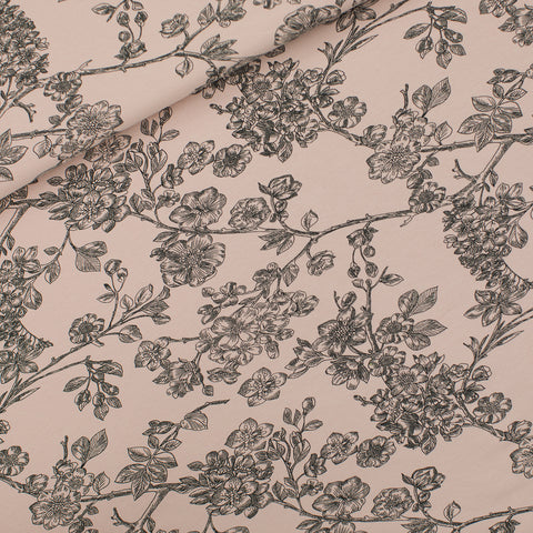Cherry Blossom - French Terry Fabric - Pale Pink - See You at Six