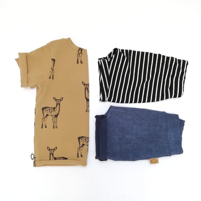 Deer - Cafe Noisette - Jersey Knit Fabric - Olabela