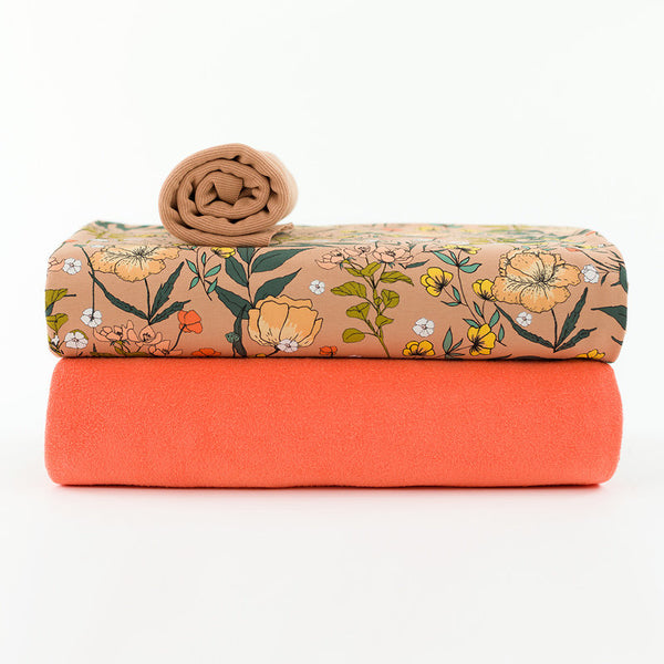 Sponge Terry Cloth - Persimmon Orange - See You at Six