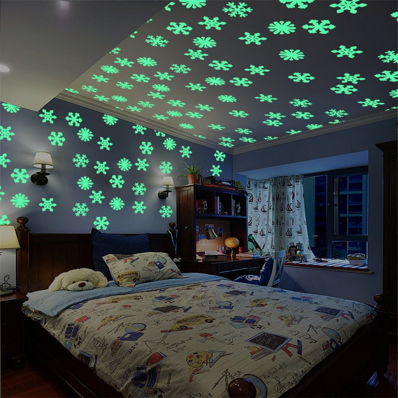 Stars, Moons, and Snowflakes! Glow In the Dark Stickers