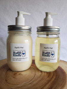 Refillable Shampoo and Conditioner