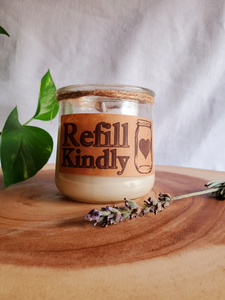 Refillable Handmade Organic Soy Candles