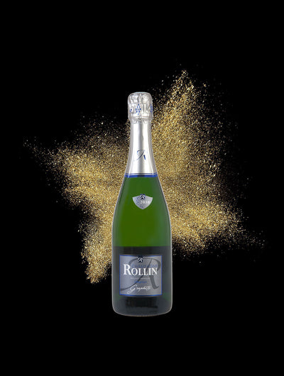 Graphite Champagne Rollin Extra-brut Assemblage Pinot Noir Chardonnay Pinot Meunier