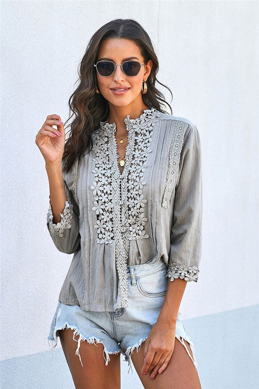 Sweet Mary Crochet Lace Top