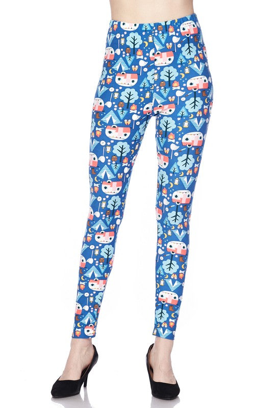 Adult Happy Camper Leggings
