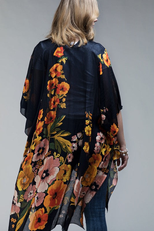 Ruggine Poppy High-Low Kimono
