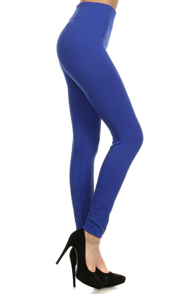 Adult Fleece Lined Solid Leggings