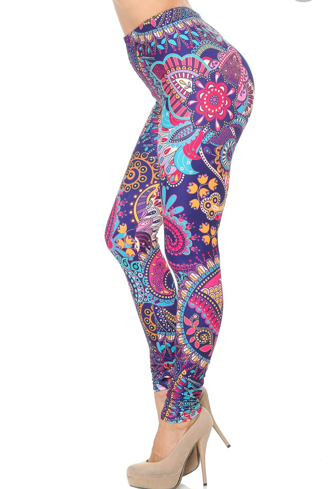 Adult Mexican Fiesta Mandala Leggings