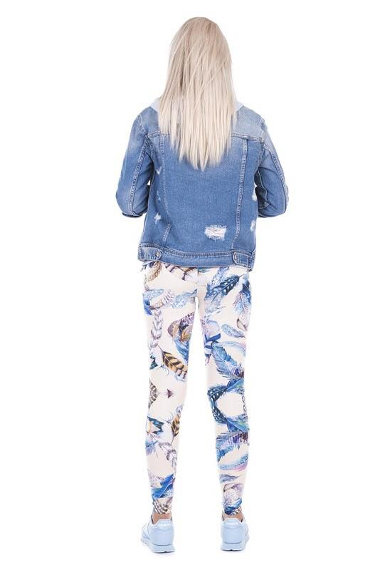 Tween Soft Feather Print Leggings