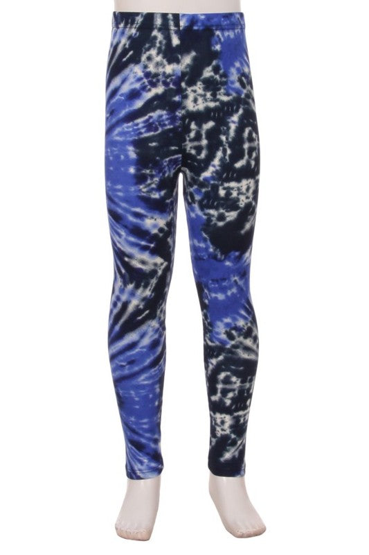 Kid's Blue Sky Tye Dye Leggings