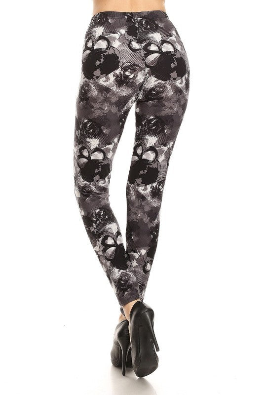 Adult Multi Skull Print Leggings
