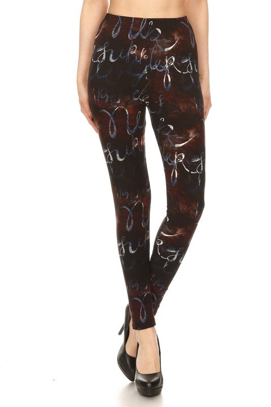 Adult Coffee & Cream Multi Print Leggings